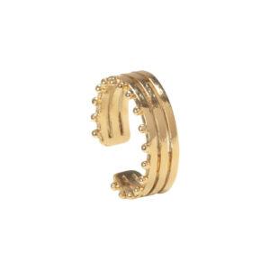 Bague 3 anneaux plaquée or