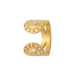Bague Quartz Rose Opale