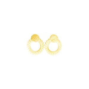 Boucles d'oreille Plaquées or Apollon