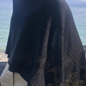 Poncho Lamé Noir