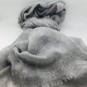 Echarpe/Etole cachemire gris clair