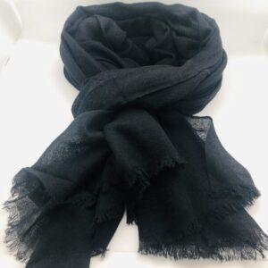 Echarpe/Etole cachemire noire
