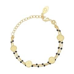 Bracelet Olympe en émail noir