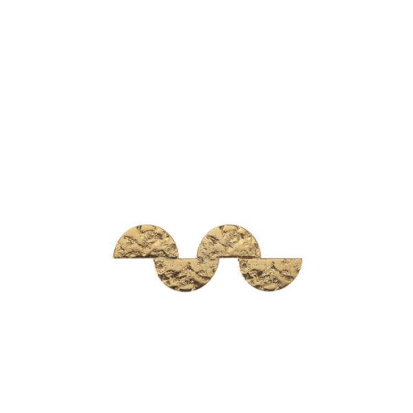 Barrette à cheveux plaquée or