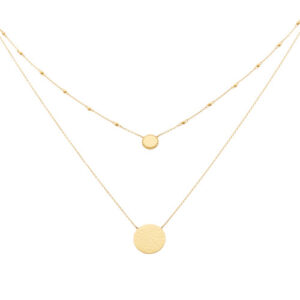 Collier double Eole doré