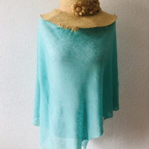 Poncho Lin bleu turquoise