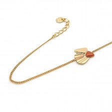 Bracelet Coquillage Ocre