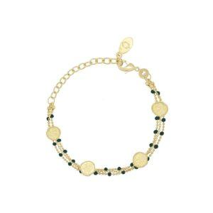 Bracelet Olympe email vert