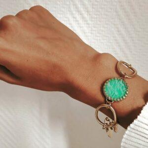 Bracelet Art Déco Aventurine