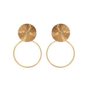 Boucles d'oreille Horizon et anneau