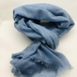 Echarpe cachemire Forever blue