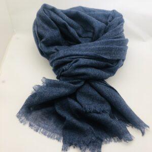 Echarpe cachemire Bijou blue